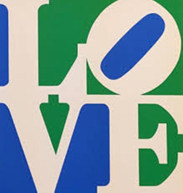 Robert Indiana, 'LOVE (White Green Blue)', 1996, Puccio Fine Art