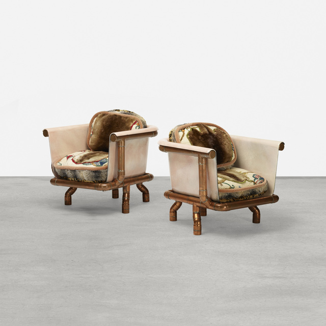 Joel Otterson, 'Endangered Species Chairs, pair', c. 1993, Wright
