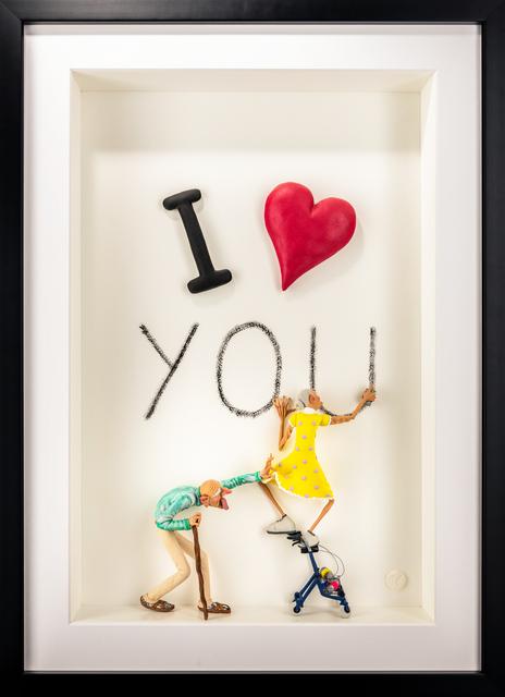 Kunst met een R, 'I Love You', 2020, Sculpture, 3D Shadow Box, Eden Fine Art
