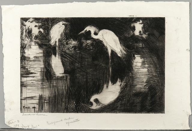 Frank Weston Benson, 'Dark Pool', 1920, Print, Drypoint on paper, Skinner