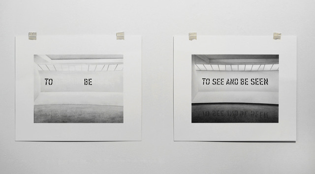 ", 'Formalizing their concept: Lawrence Weiner's ""TO SEE AND BE SEEN"", 1972,' 2013, Josée Bienvenu"