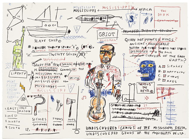 Jean-Michel Basquiat, 'Undisovered Genius', 1982-2019, Taglialatella Galleries