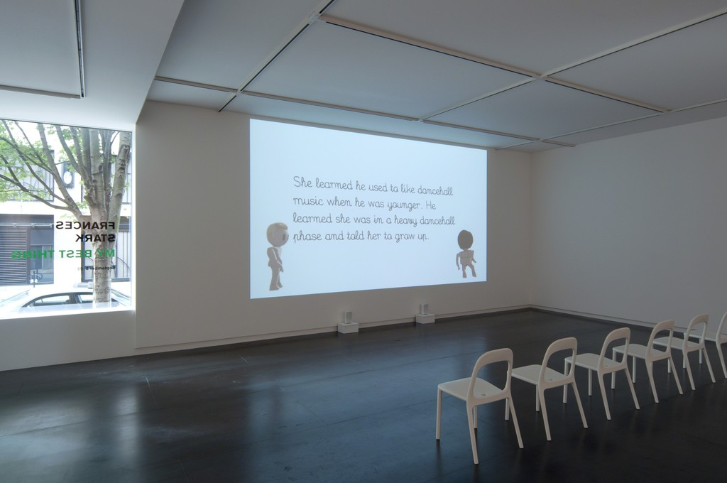 Francis Stark's My Best Thing shown courtesy Gavin Brown's Enterprise, New York. Photo by Worksighted.