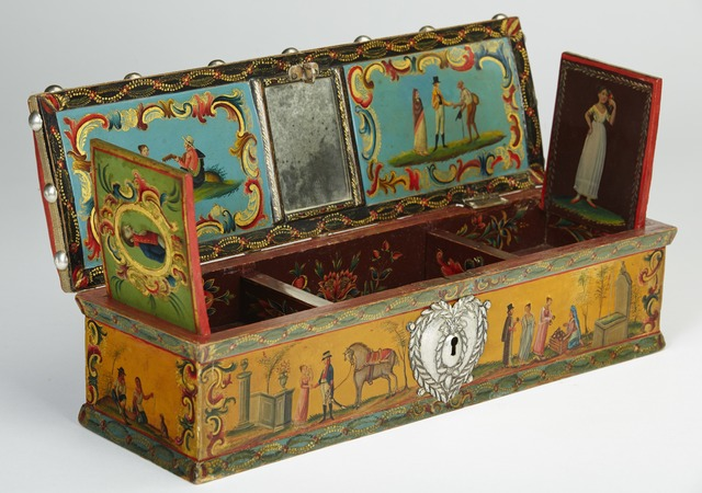 , 'Almohadilla or sewing box,' late XVIII or early XIX century, Diptych Fine Arts