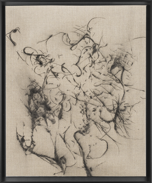 , 'Hair orchid sweat print drawing II,' 2018, SMAC