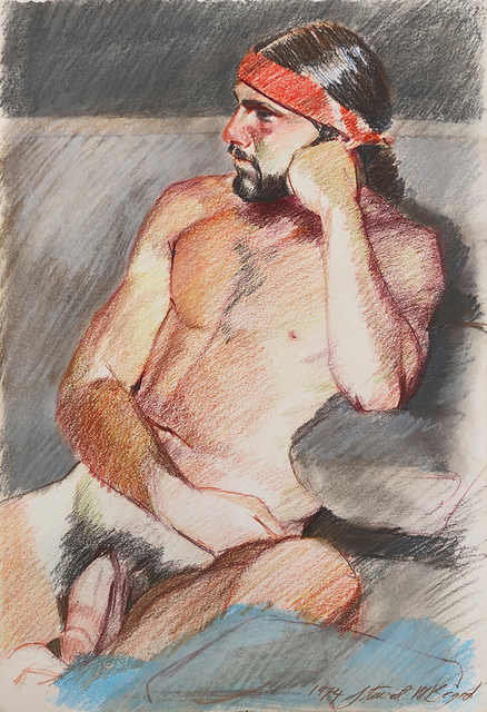 Mark Beard, 'Untitled (Nude Man in Red Headband)', 1974, ClampArt