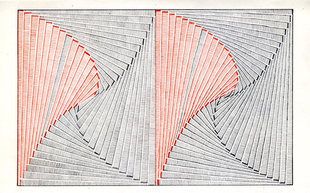 , 'Ruled Unruled with Red Pencil (Pinwheel),' 2017, McKenzie Fine Art