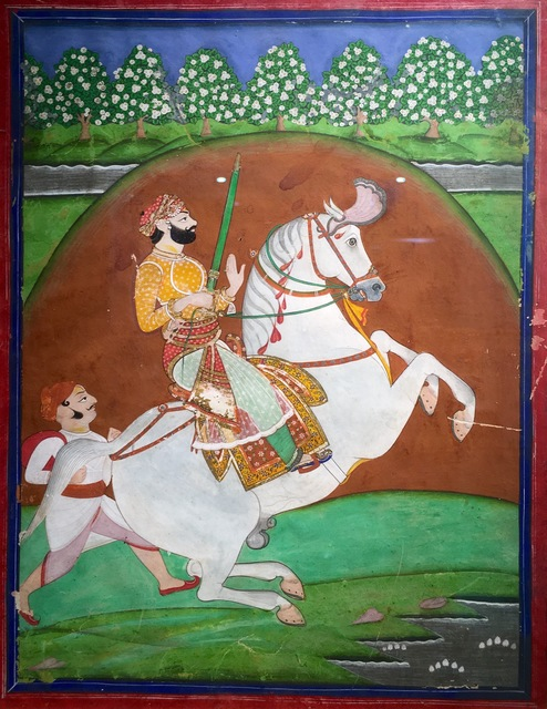 India, Mewar, 'A Nobleman on a Rearing Stallion (Style of Tara Chand)', 19th century, Kapoor Galleries / Graham Shay 1857