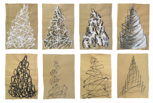 , 'Set of 8 Sketches ,' 2016, Zilberman Gallery
