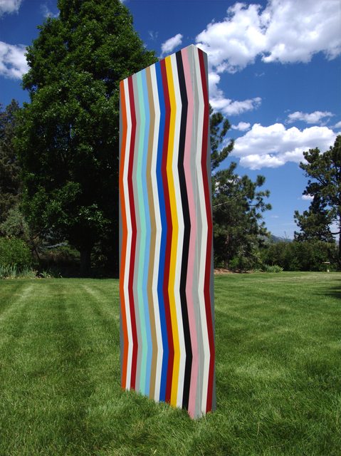 Pard Morrison, 'Heliotrope', 2018, Sculpture, Fired pigment on aluminum, Brian Gross Fine Art