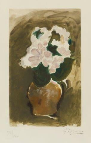 Georges Braque, 'Les Fleurs Violets', Print, Etching with aquatint in colours on Arches wove, Roseberys
