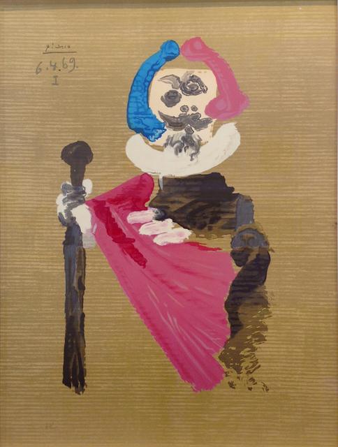Pablo Picasso, 'Les portraits imaginaires 6.4.69 I', 1971, Print, Lithographie d'après, Signée dans la planche noté au crayon HC en bas à gauche, Bogena Galerie