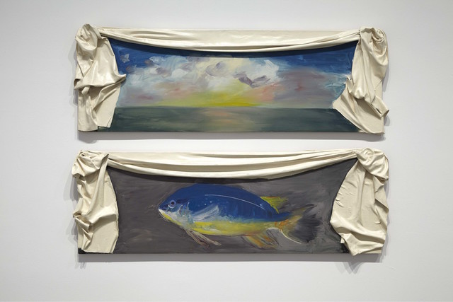 Ree Morton, 'Regional piece', 1976, Painting, Oil on panel, enamel on resin (2 panels), Museo Reina Sofía