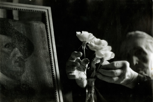 Bruce Davidson, 'Widow of Montmartre, Mme. Fauché (Hands Fixing Flowers)', 1956, Catherine Couturier Gallery