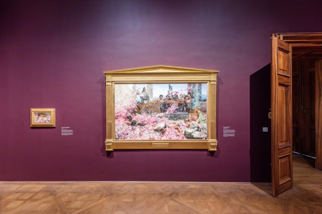 Exhibition view Lawrence Alma-Tadema – Decadence & Antiquity, Photo: © Belvedere, Vienna, 2017