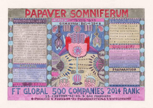 , 'HFT The Gardener/Outsider artworks/Papaver somniferum (Poppy),' 2015, P.P.O.W