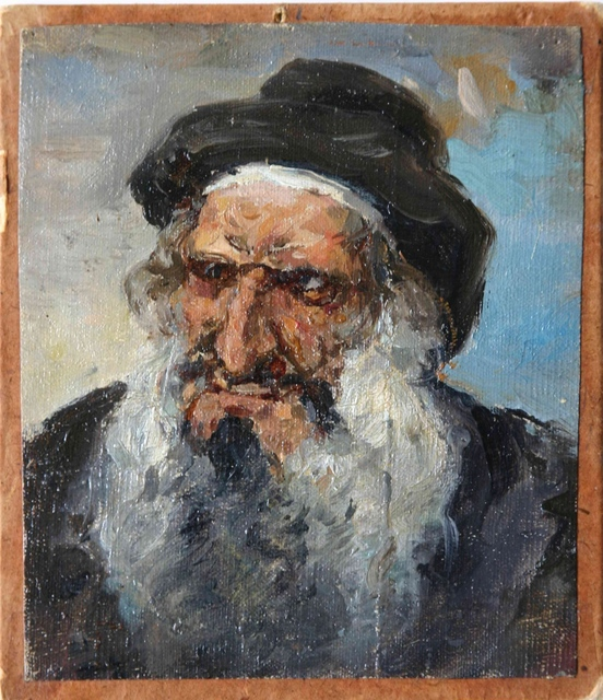 , 'Head of Old Jew in Hat ,' 1884, Vassily Polenov Fine Arts Museum and National Park