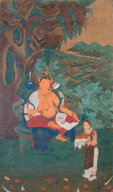, 'Thangka of Manjushri with attendant,' 18th century, Rossi & Rossi