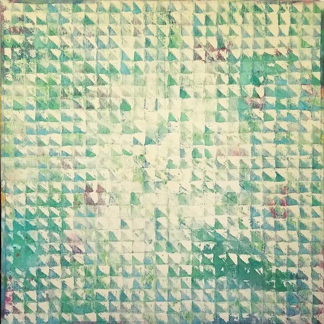 , 'thru pink/green,' 1977, Tile Blush