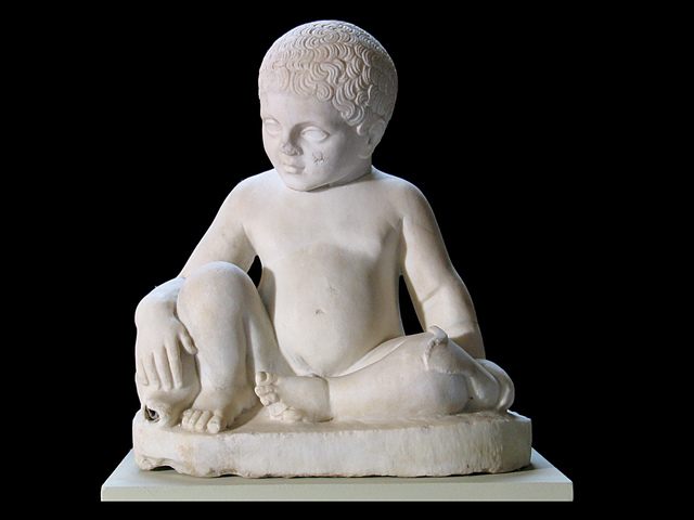 , 'Fountain figure of a boy and a dolphin,' , Montreal Museum of Fine Arts