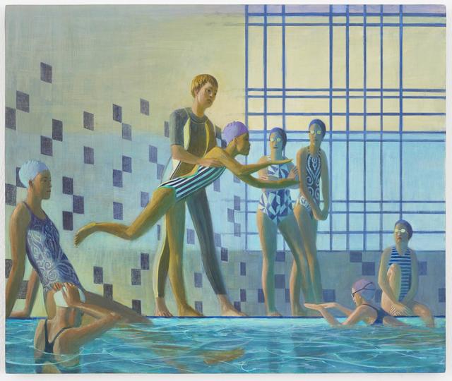 Benjamin Senior, 'Undulating Stroke', 2018, Painting, Egg tempera on cotton on plywood, Monica De Cardenas