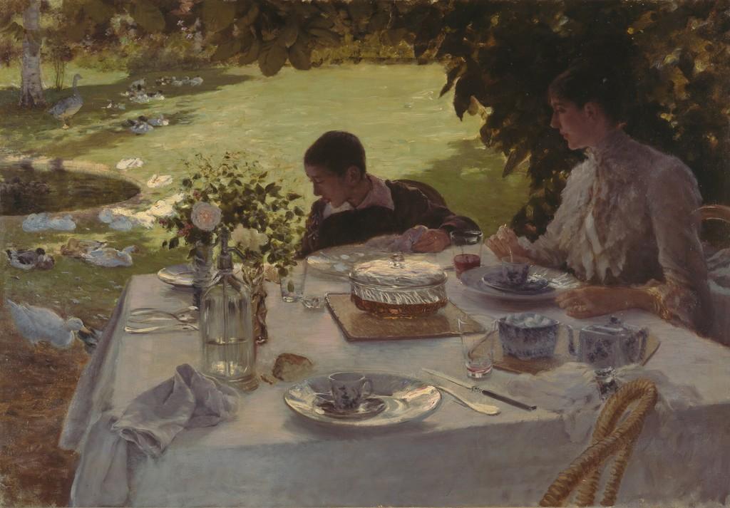 Giuseppe de nittis colazione in giardino 1884 artsy for Giardino triennale