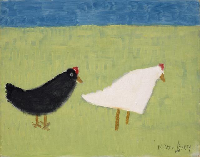 , 'Black Hen White Hen,' 1961, Debra Force Fine Art