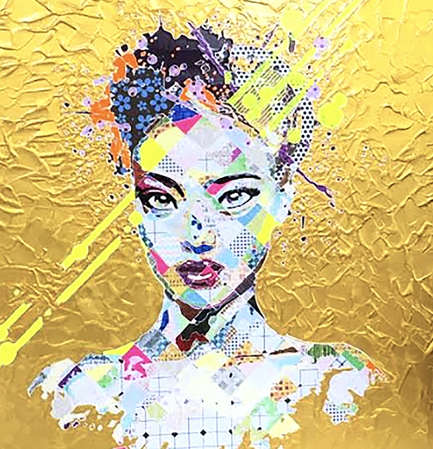 Pınar DU PRE, 'Cheela in Gold', 2016, Painting, Mixed Media, FREMIN GALLERY