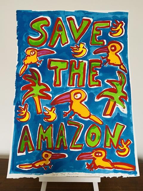 Katherine Bernhardt, 'Save The Amazone', 2019, The Linocut