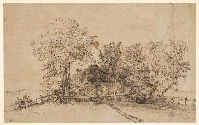 Rembrandt van Rijn, 'Cottage among Trees', ca. 1650, The Metropolitan Museum of Art
