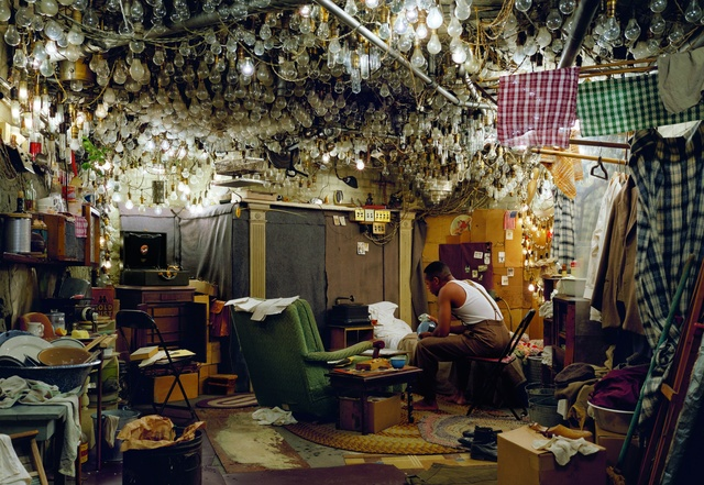 Jeff Wall, ' After 'Invisible Man' by Ralph Ellison, the Prologue', 1999-2000, Louisiana Museum of Modern Art