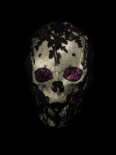 , 'Veiled Skull with Flowers,' 2012, Dellasposa
