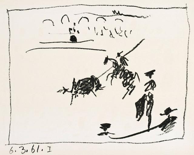 Pablo Picasso, 'A los toros : La pique', 1961, Print, Lithograph, Hans den Hollander Prints