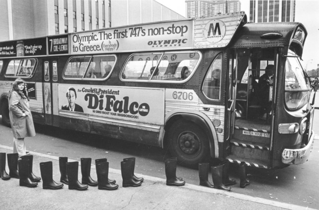, '100 Boots at Columbus Circle,' 1960, Richard Saltoun