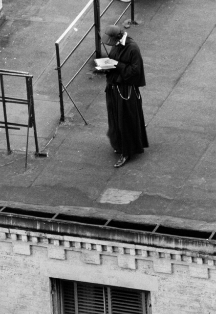 , 'Nun Standing on Roof, Reading,' 1962, Robert Mann Gallery