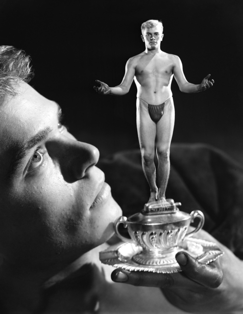 , 'Gustaf Holmes (With Trophy), Los Angeles,' 1951, Adams and Ollman