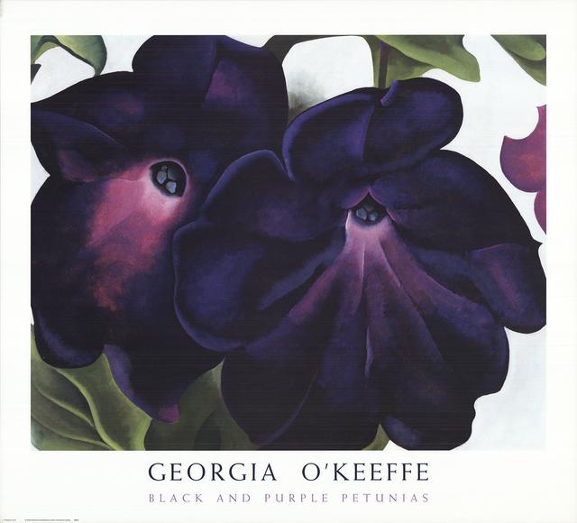Georgia O'Keeffe, 'Black and Purple Petunias', 1999, ArtWise