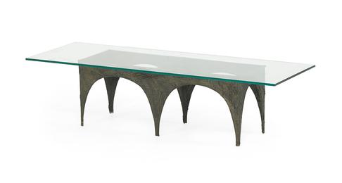 Sculptured Metal coffee table