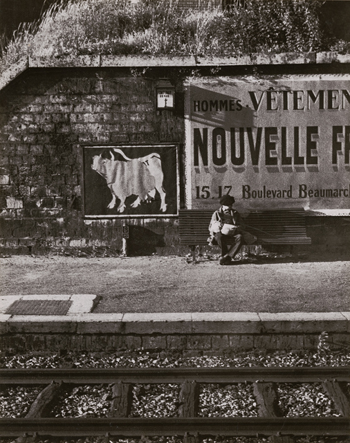 André Kertész, 'Fontenay with Boy (Boy at Railroad Track on Bench)', 1933 / 1930s, Photography, Silver print on original mount, Contemporary Works/Vintage Works