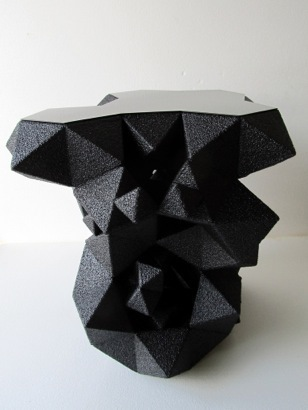 Aranda\Lasch, 'Black Side Table', 2011, Design/Decorative Art, CNC Wire-cut EPS Foam, Gallery ALL
