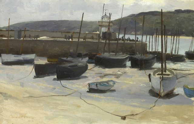 , 'Low Tide, St. Ives Harbor,' 1887, Avery Galleries