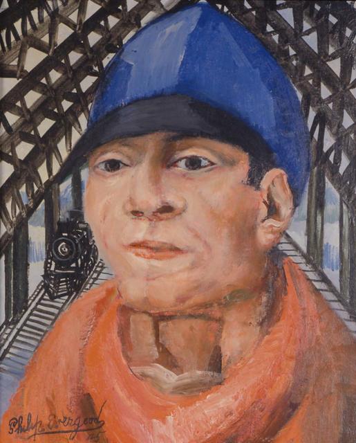 , 'Head of a Railroad Man,' 1945, Michael Rosenfeld Gallery