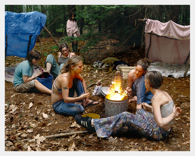 Justine Kurland, 'Puppy Love, Fire', 1999, Photography, Archival pigment print, Aperture Foundation