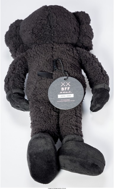 KAWS, 'BFF', 2016, Other, Black plush figure, Heritage Auctions