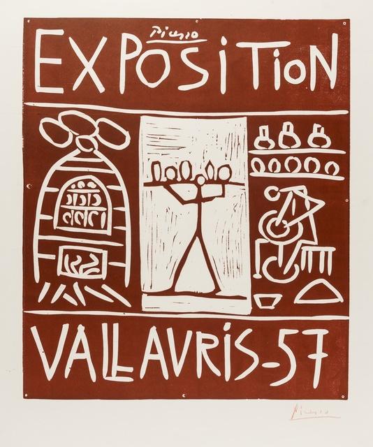 Pablo Picasso, 'Exposition Vallauris 57 (Bloch 1277)', 1957, Forum Auctions