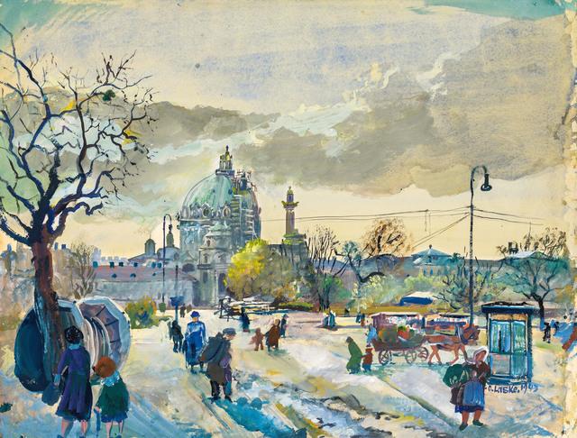 , 'Karls square in Vienna with the Karls church,' 1943, Galerie Kovacek & Zetter