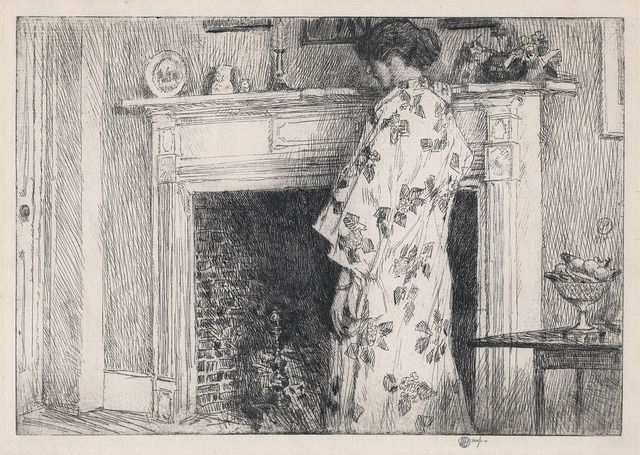 , 'The White Kimono.,' 1915, The Old Print Shop, Inc.