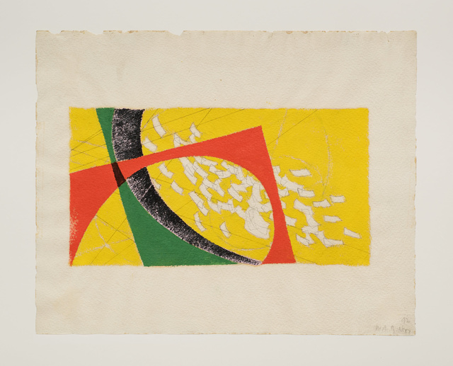 , 'Untitled (Yellow, red, green falling strips of paper),' 1942, Robert Koch Gallery