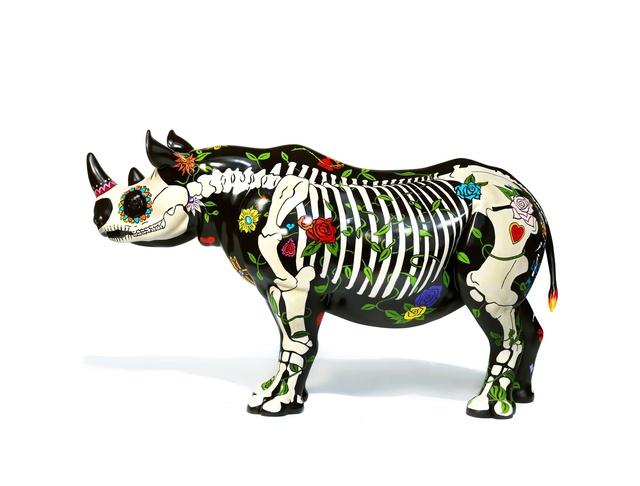David Mach, 'Rhino Eterno', 2018, Sculpture, Rhino: fibreglass rhino (fire retardant) with internal armature Finish: Acrylic and varnishes, Tusk Benefit Auction