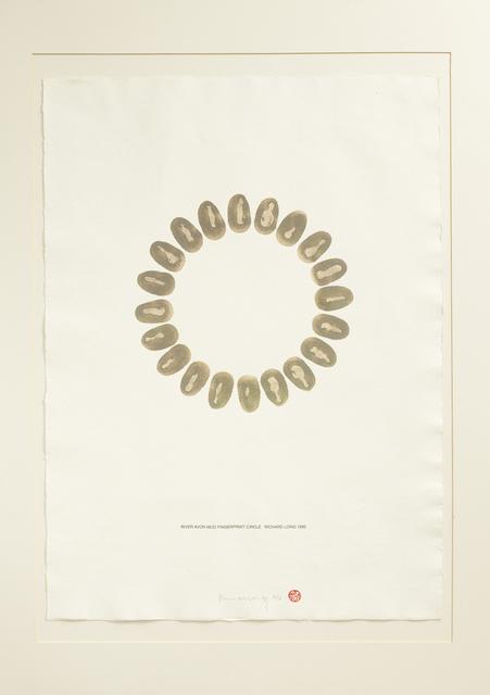 Richard Long, 'River Avon Mud Fingerprint Circle', 1996, Artsnap